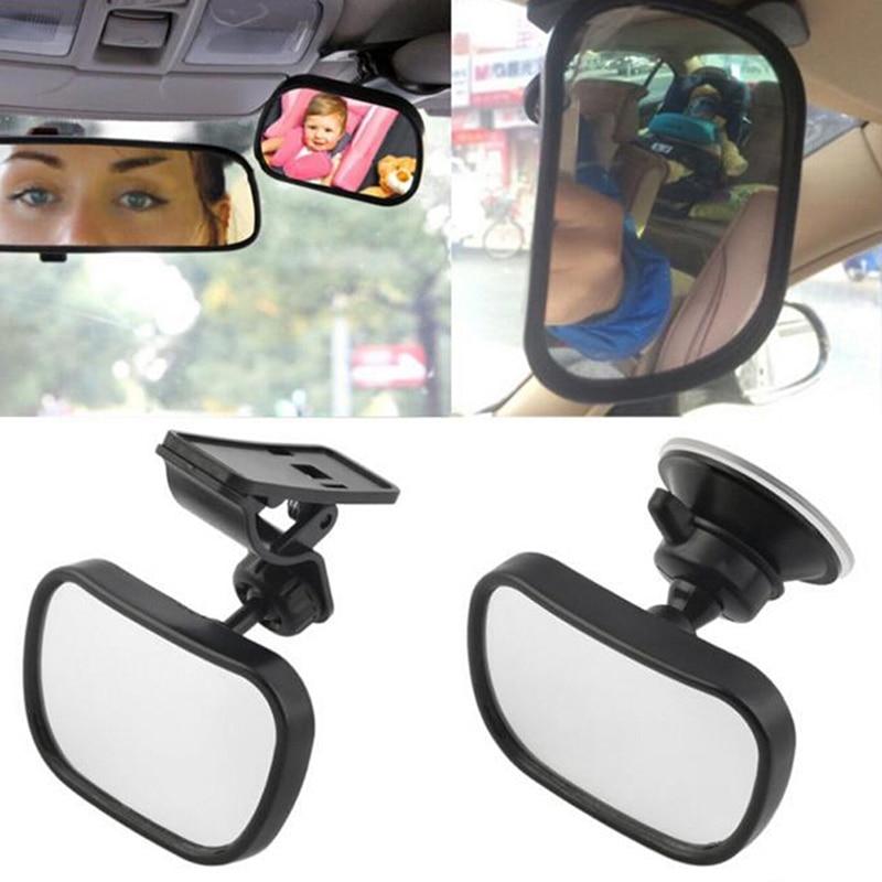 2 в 1 Мини Автомобильный Безопасность на заднем сиденье зеркало заднего вида, настраиваемое зеркало заднего отделения для детей ясельного в...