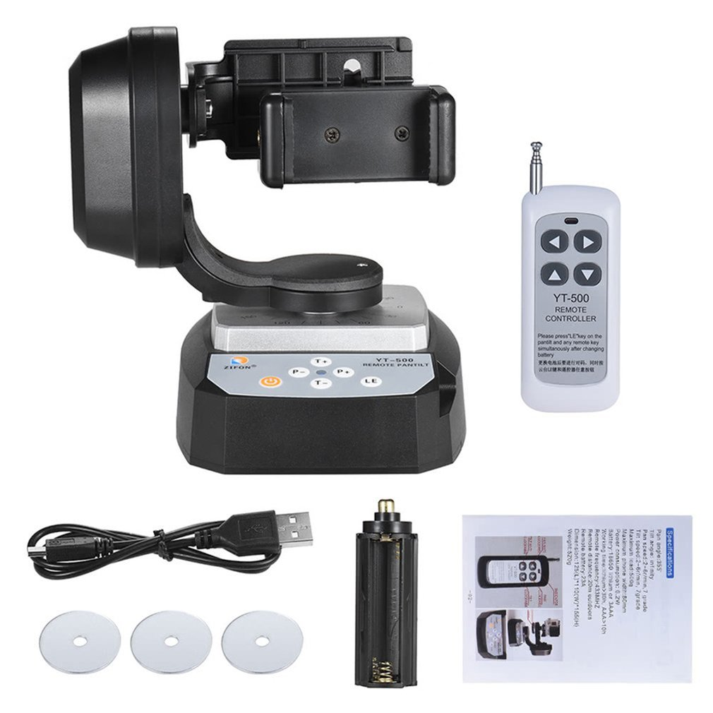 Yt-500 Panoramic Electric <font><b>Remote</b></font> <font><b>Control</b></font> Gimble Mobile Phone Self-Timer Live Tripod For <font><b>Gopro</b></font> Micro Single For Sony Qx Camera image