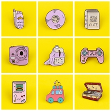Feminism Pins Jewelry Funny Cute Pink Camera Phone Backpack Enamel Pins Badges Brooch Lapel Pins for Backpack Badge Gifts Decor banana brooch creative tricky funny cute badge backpack fruits pins jewelry pin women men student cartoon enamel corsage gifts