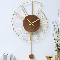 Hoshine Home Decoration Vintage Style Wall Clock Modern Design Big Horloge Murale Large Size Orologio da Parete 20