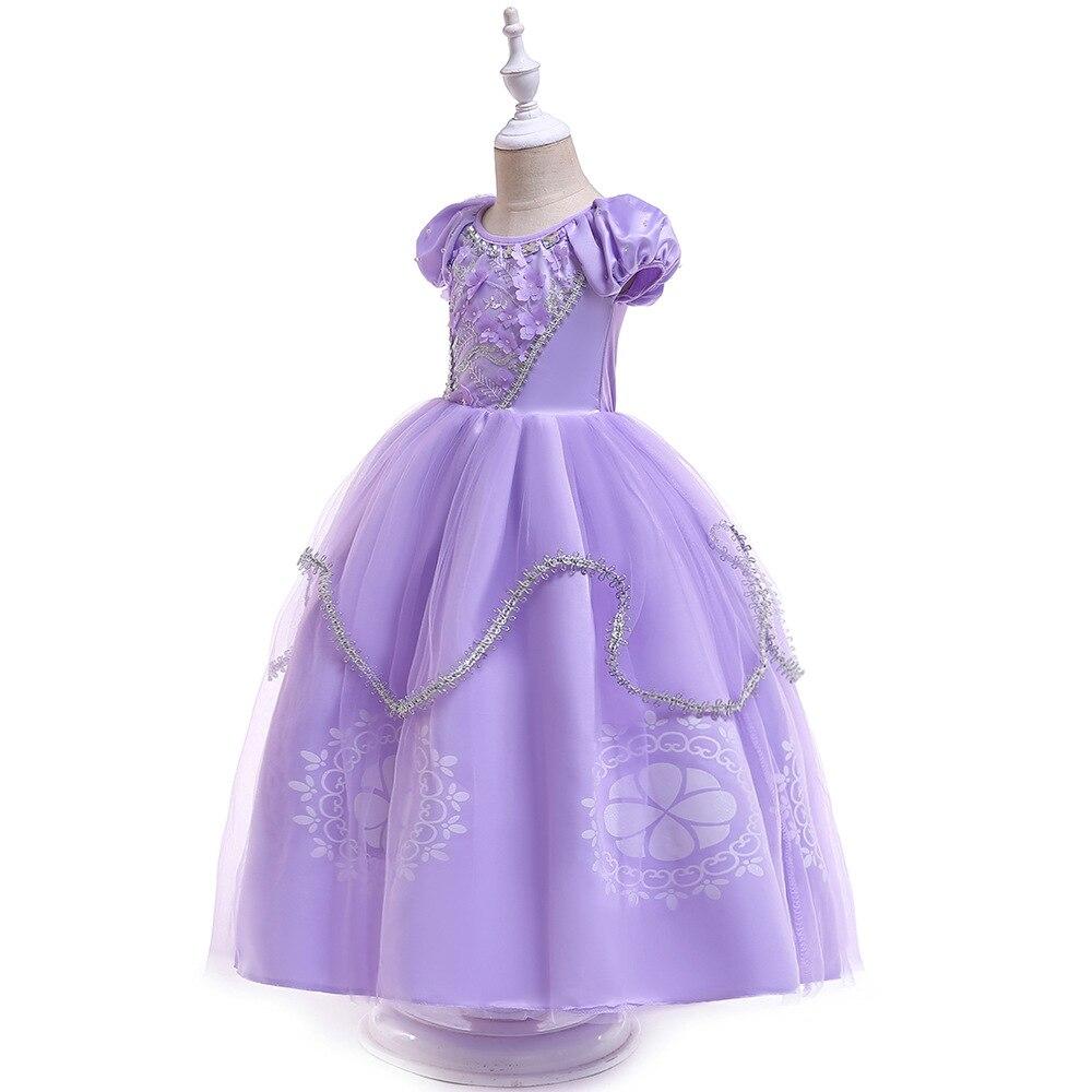 Children Sophia Princess Dress Halloween Clothing Girls Little Princess Sofia Dress Childrenswear Children Shirt