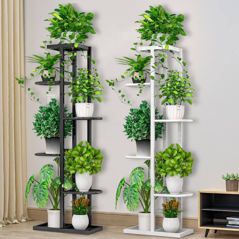 Flower Shelf Nordic Indoor Home Balcony Decoration Rack Wrought Iron Living Room Simple Flower Pot Multi-layer Rack