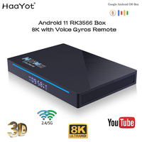 Android 11 Smart TV Box Rk3566 8K Ultra HD Google Voice Play Netflix BT Gyros Remote H96 Max 8GB Ram Set Top Box Media Player