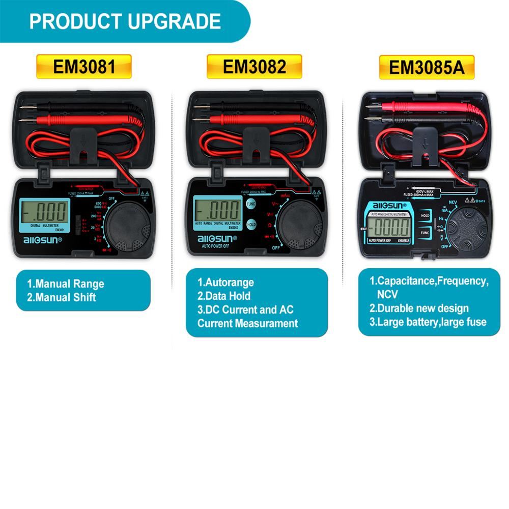 Универсальный цифровой мультиметр EM3085A Mini Auto Range AC DC Амперметр Вольтметр Ом NCV емкость портативный карманный измерительный прибор