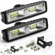 Carro led trabalho barra de luz lâmpada condução para offroad barco trator caminhão 4x4 suv luz nevoeiro 12v farol luzes do carro acessórios