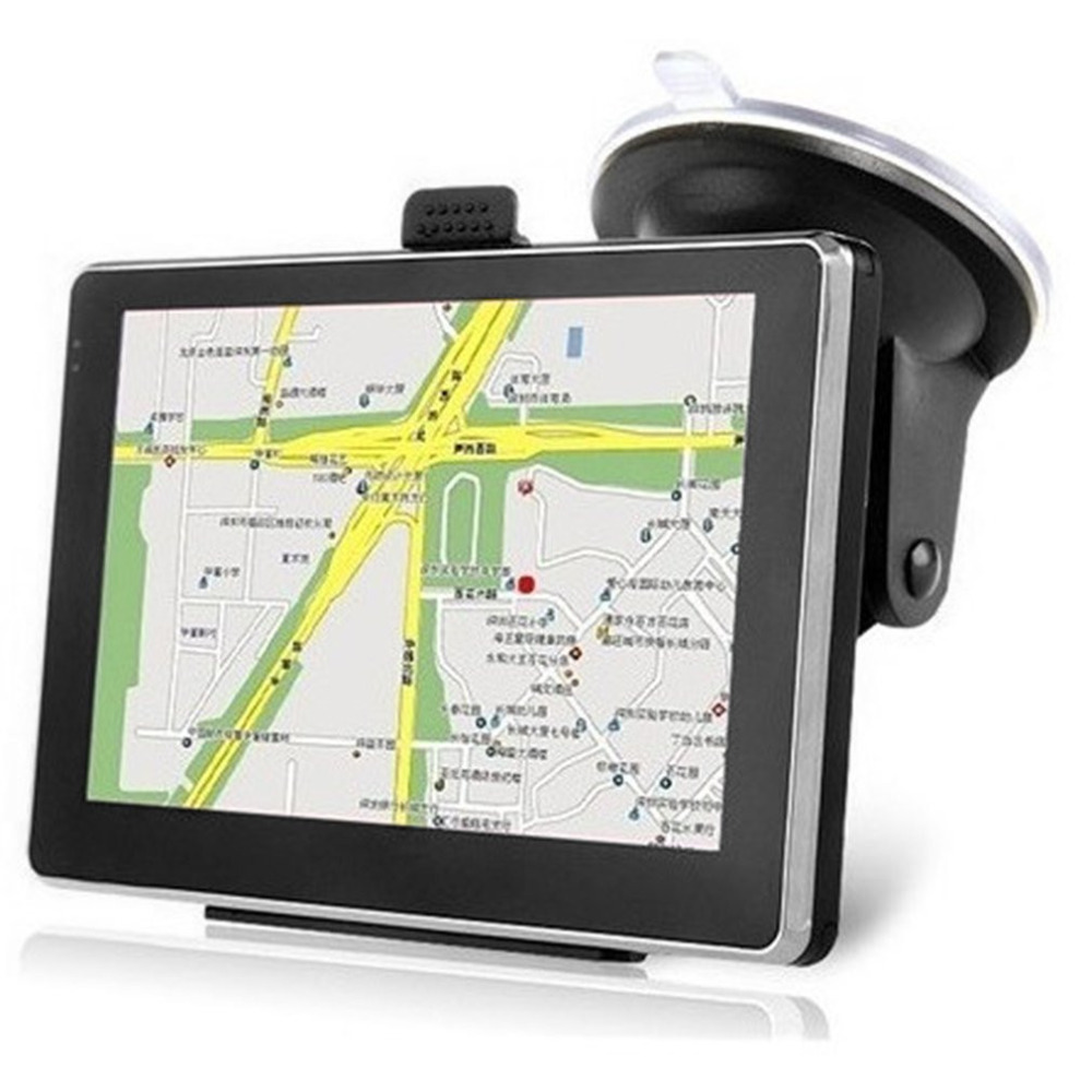 Samochody 5-Cal wysokiej rozdzielczości Bluetooth nawigacja gps przenośny rezystancyjny ekran dotykowy nawigacja gps dla samochodów ciężarowych Hot