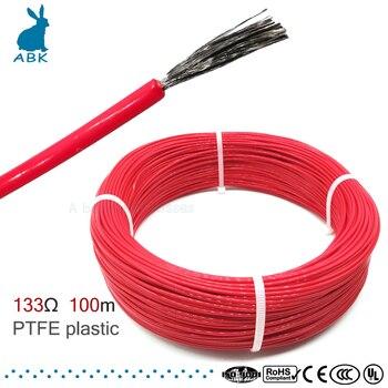100meter 133ohm 3k PTFE flammschutzmittel carbon faser heizung kabel heizung draht DIY spezielle heizung kabel für heizung liefert