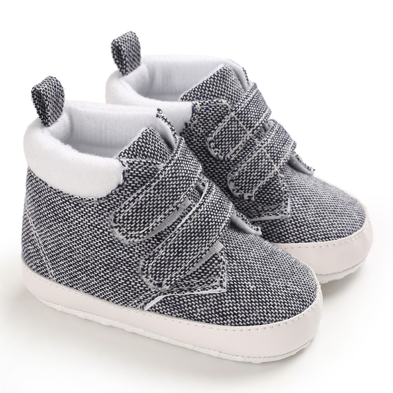 Baby Boy Shoes Canvas Toddler Boy Shoes  Printed Soft Bottom Footwear  0-18M Newborn First Walkers