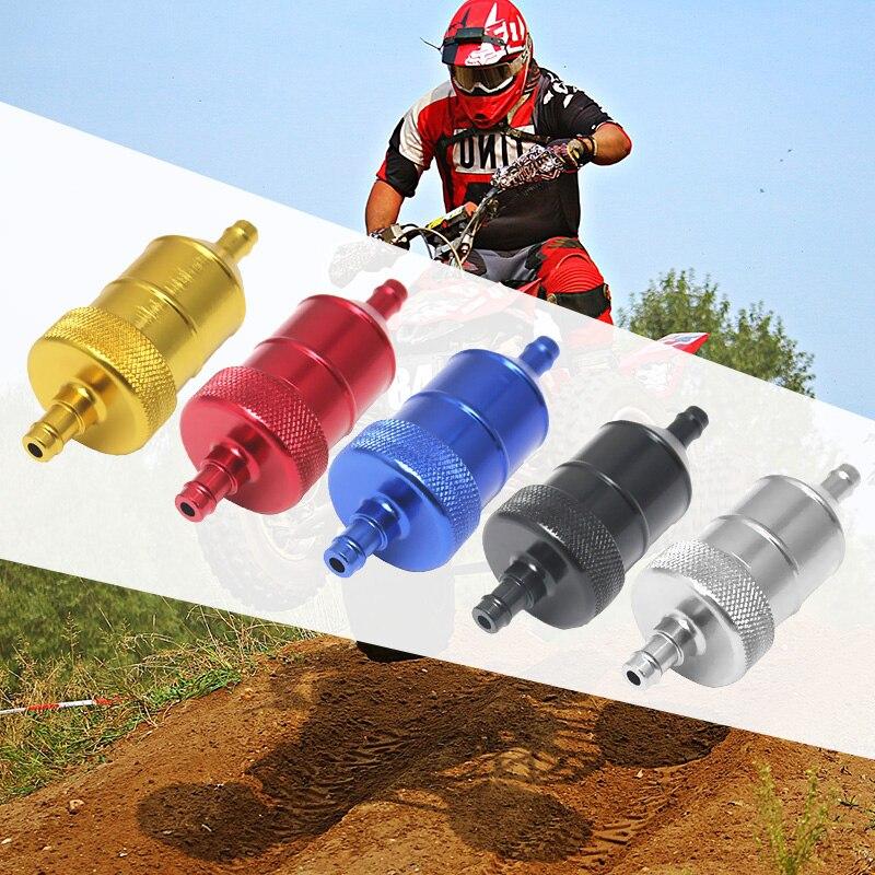 1 шт. 8 мм 5/16 ''Универсальный хромированный алюминиевый встраиваемый топливный фильтр для мотоциклы мотороллеры Quads ATV и т. д. 40 микрон фильтрующий элемент-in Топливные фильтры from Автомобили и мотоциклы