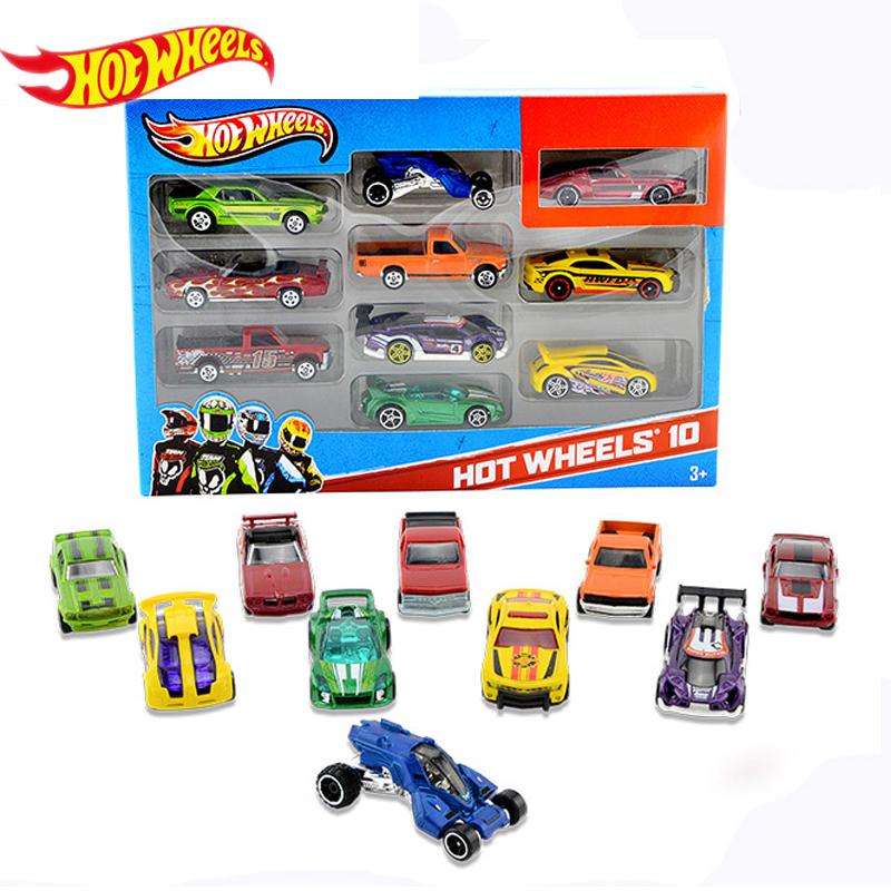 Hot Wheels track ESS BSC 10 Car Pack 1:64 Mini Model Car Kids Toys For Children Diecast Brinquedos Hotwheels Birthday Gift 54886