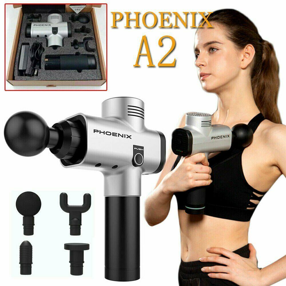 Silber Phoenix A2 Massage Gun Percussion Massager Muskel Vibrierende Entspannende Maschine