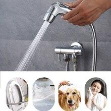 Dreadlocks Cleaning Pressurized Sprinkler Head ABS Woman Washer Sprinkler Gun Hand-Held Pressurized WC Sprinkler Head JU0039