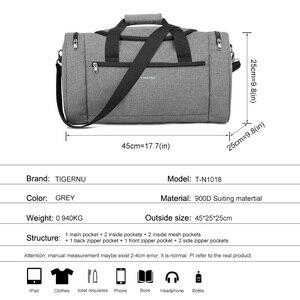 Image 5 - Tigernu 2020 נסיעות שקיות Spalshproof גדול קיבולת אופנה דובון תיק יד נסיעות מזוודות תיקי עבור גברים נשים מקרית זכר