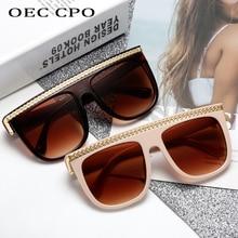 Unisex Oversized Square Sunglasses Women Hot Brand Fashion F
