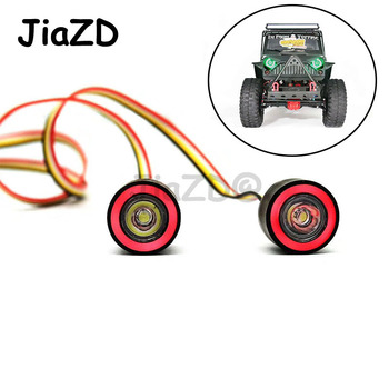 kids toys hard plastic yellow red modified 1 10 rc car body shell 3 door climbing car for 1 10 jk wrangler rubicon scx10 d90 JiaZD LED Lights Headlight for 1/10 RC Rock Crawler Axial SCX10 D90 Jeep Wrangler Body Shell RC Car Accessories