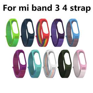 Bracelet Smart-Watch-Strap Mi-Band Xiaomi Nylon Silicone Replaceable for 4 3
