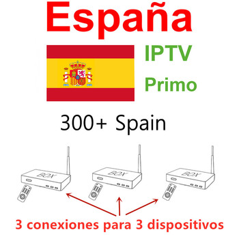 Spanish IPTV 3 Connection For 3 Device Spain IPTV España M3u Set Top Box Smart Tv Android Ip Tv Box No App Included