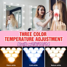 Table-Lamp Led-Mirror-Light Makeup Vanity Bulb Dressing-Room Dimmable Hollywood Selfie