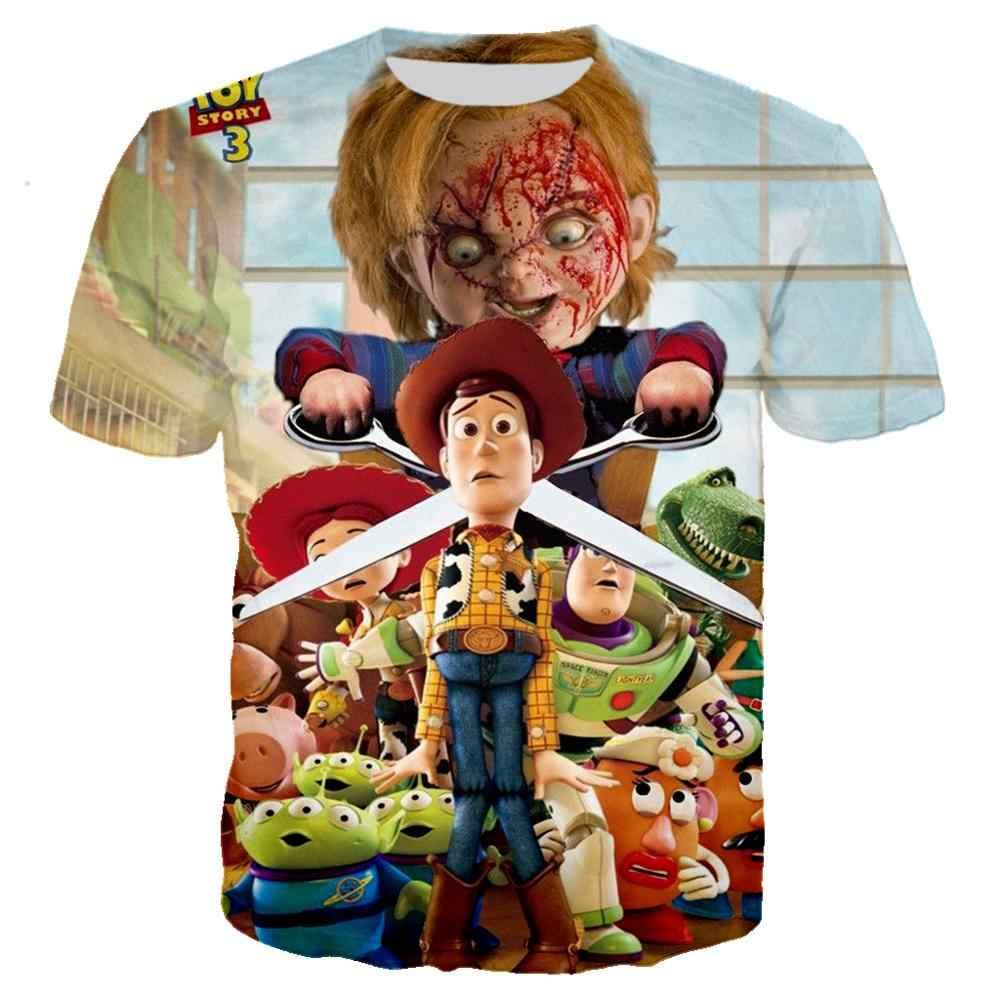 Забавный ужас Чаки в истории игрушек футболка 3D принт для любителей фильмов