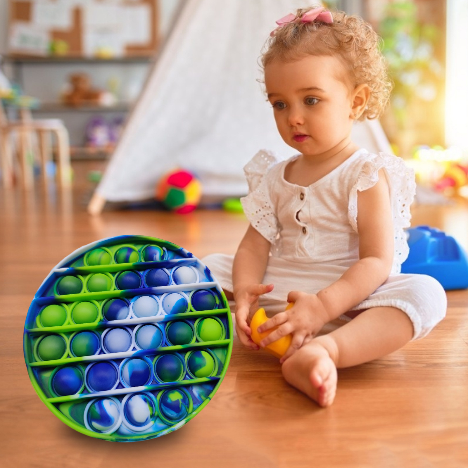 Kids Toys Figet Bubble-Sensory Squishy Pops Special Needs It-Push Silicone Stress Reliever img3