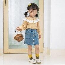 Осень; стиль; детская одежда для девочек; кружевная рубашка в дебютантном стиле; детская клетчатая верхняя одежда с длинными рукавами
