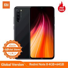 "Version mondiale Xiaomi Redmi Note 8 4GB 64GB Smartphone 48MP caméra Snapdragon 665 téléphone portable 4000mAh 18W charge rapide 6.3 ""FHD(China)"
