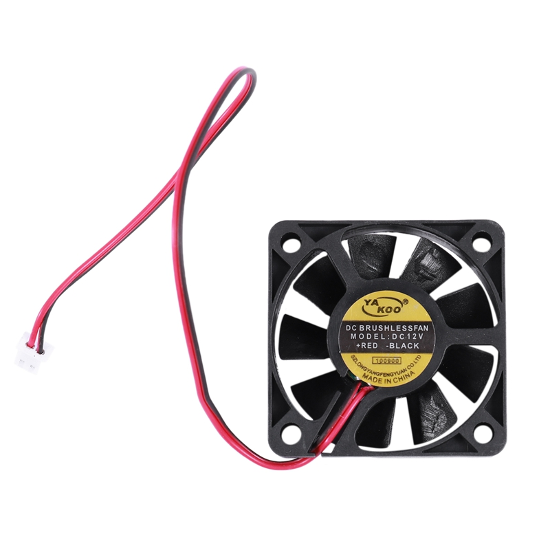 50mm X 50mm X 10mm 5010 DC 12V 0.1A 2Pin Brushless Cooling Fan