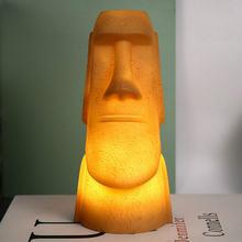 Новые 3d ночные светильники пасхальный остров moai Светодиодные