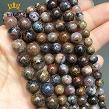 Round Natural Pietersite Stone Beads Loose Spacer Beads For