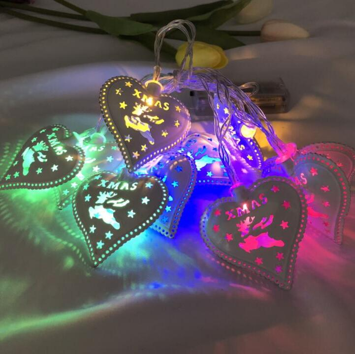 1.5m 10led LED New Heart Shape Lamp String Festival Decoration Rooms Home