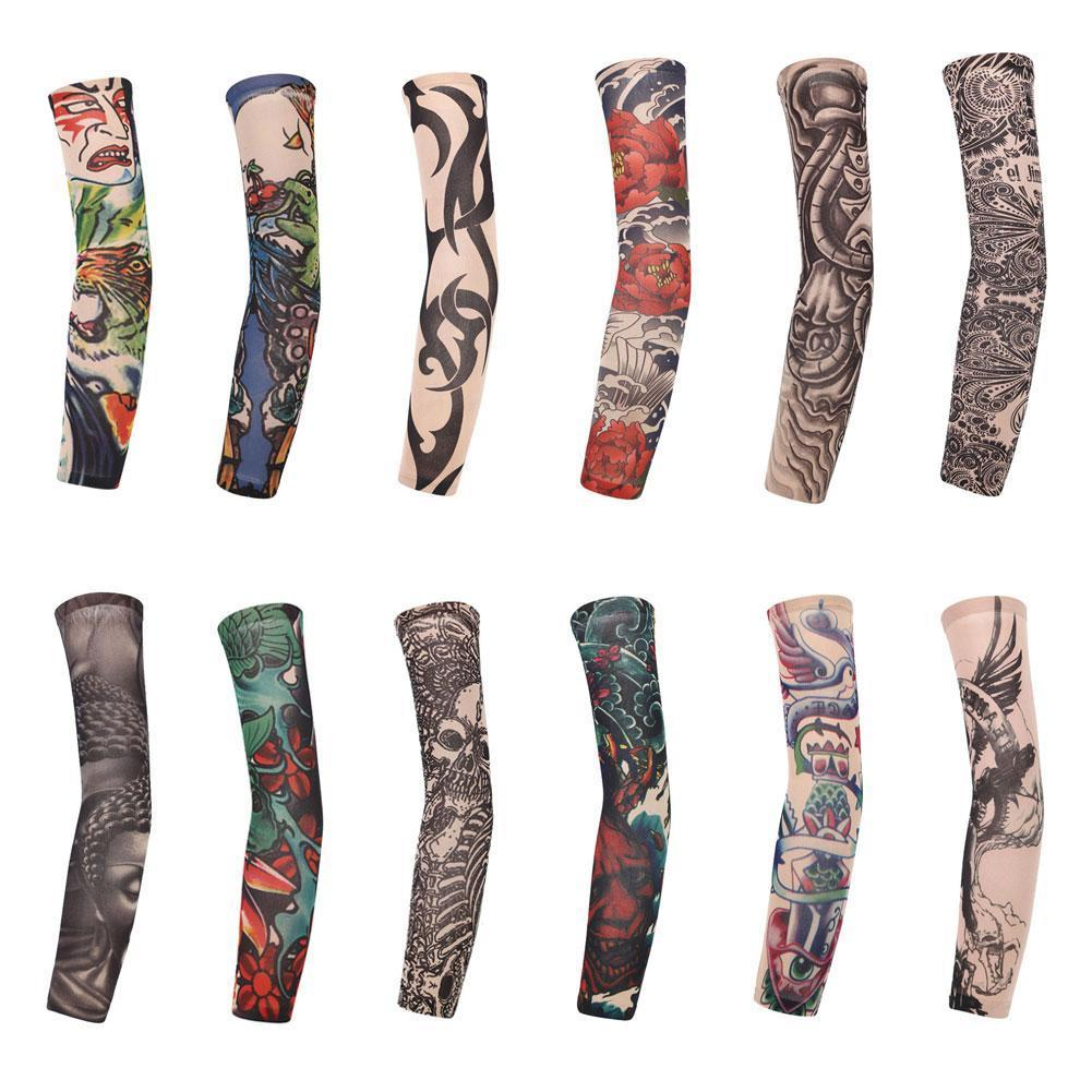 1pc Tattoo Sleeve Arm Cover 3D Printing Cycling Sleeves Men Protection Seamless Women Tattoo Arm UV Cover I8Z5