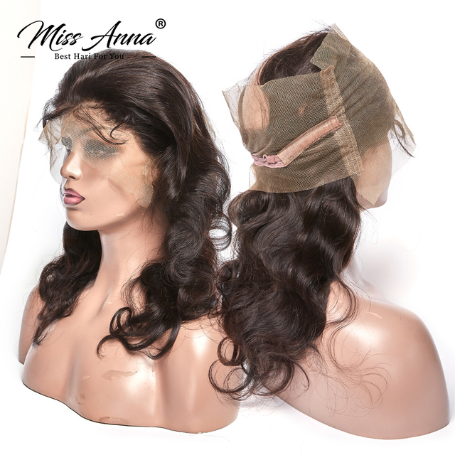 [MissAnna] OneCut P Brazilian Body Wave Hair Weave 3 Bundles With 360 Lace Frontal Remy Human Hair Bundles With Lace Frontal 1