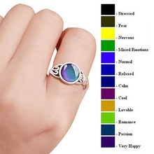 Vintage Women Mood Ring Emotion Feeling Changeable Ring Temperature Control Color Rings For Women Size 6-10
