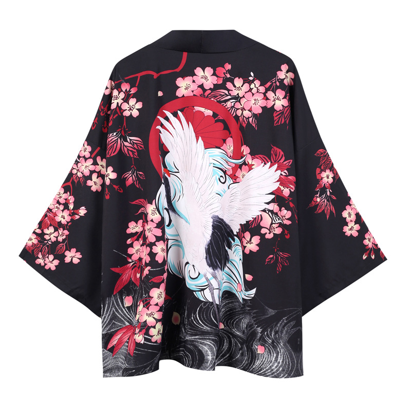 Kimono Cardigan Men Japanese Obi Male Yukata Men's Haori Japanese Samurai Clothing Traditional Japanese Clothing
