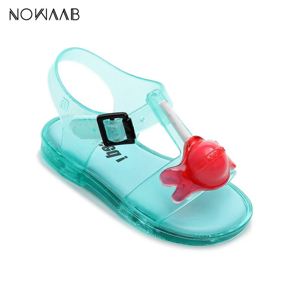 Mini Melissa Lollipop 2020 Girls Summer Jelly Sandals Shoes Princess Sandals Kids Beach Sandals Non-slip Toddler Sandalias