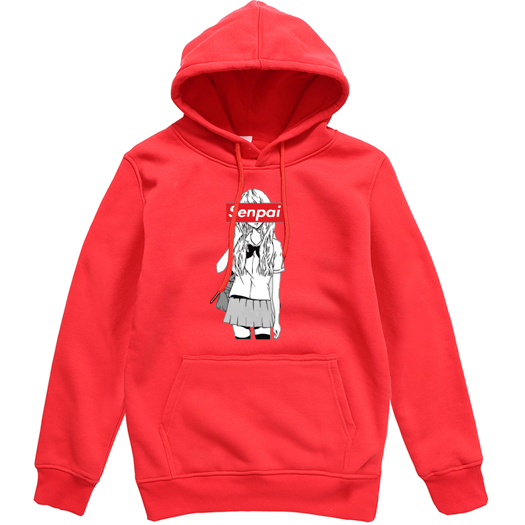 Men Streetwear Hoodies Senpai Anime Girl Mens Brand Pullover 2019 Hot Hoodie Personality Tracksuit Male Hip Hop Outdoor Tops Men