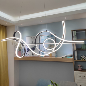 Image 1 - Coffee Finish Hanging lamp Modern Led Chandelier For bed Dining room kitchen suspension luminaire Pendant Chandelier Fixture