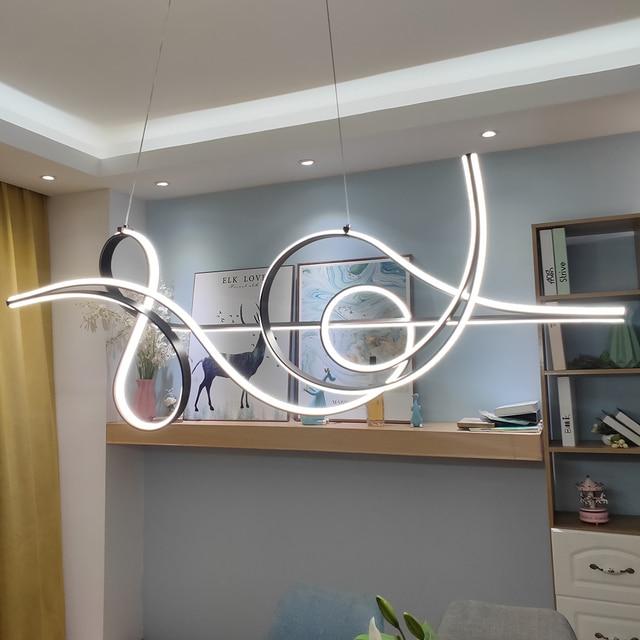 커피 마무리 매달려 램프 현대 Led 샹들리에 침대 다이닝 룸 주방 서스펜션 조명기구 펜던트 샹들리에 정착물