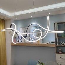 Plafonnier Led suspendu au design moderne, luminaire décoratif dintérieur, idéal pour une salle à manger ou une cuisine