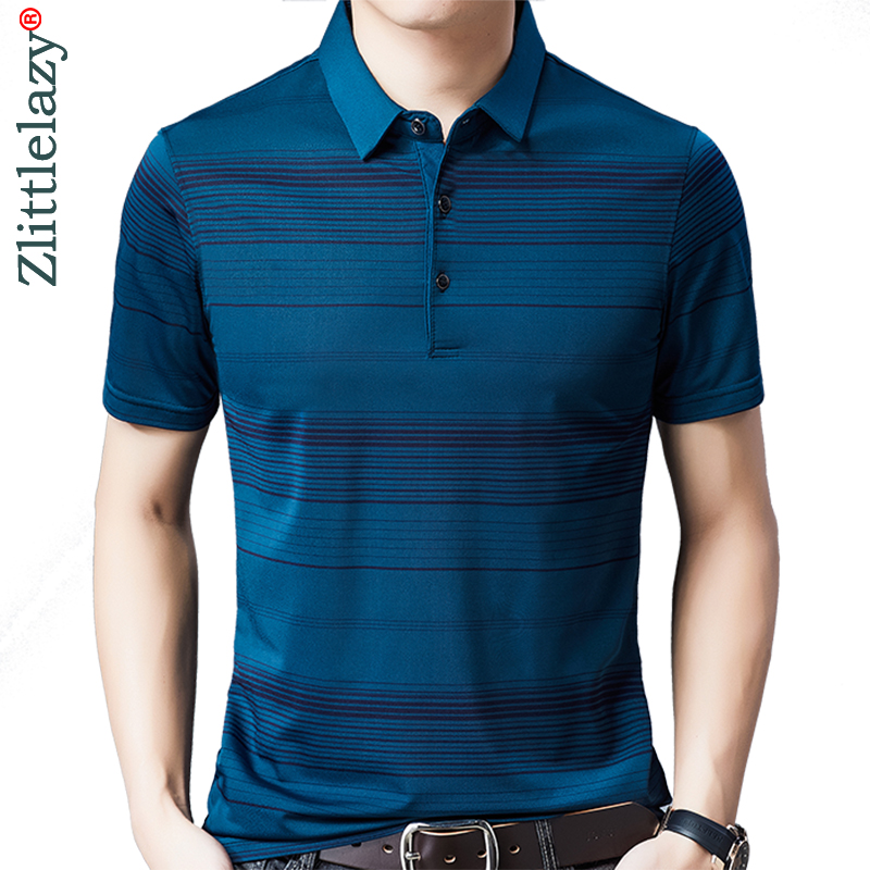 2020 Brand Casual Summer Striped Short Sleeve Polo Shirt Men Poloshirt Jersey Luxury Mens Polos Tee Shirts Dress Fashions 50548 1