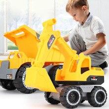 Детская Классическая игрушечная Инженерная машина, экскаватор, модель трактора, игрушечный самосвал, модель автомобиля, игрушечный мини-подарок для мальчика