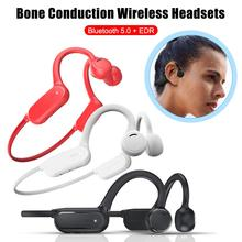 NEW Sports Bluetooth Headphones Waterproof Bone Conduction Smart Touch Non-in-ear 6D Panoramic Surround Sound Headset