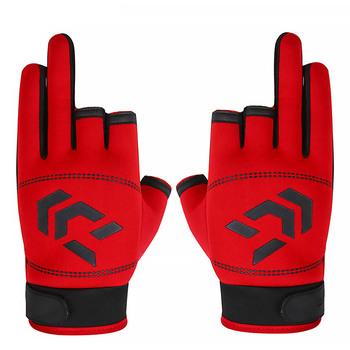 1 para 3 rękawice wędkarskie bez palców oddychające szybkie suszenie antypoślizgowe rękawice wędkarskie wędkarstwo dla Unisex rękawica silikonowa tanie i dobre opinie elenxs CN (pochodzenie) DJ1107 Anti-Slip Trzy Wyciąć Palec