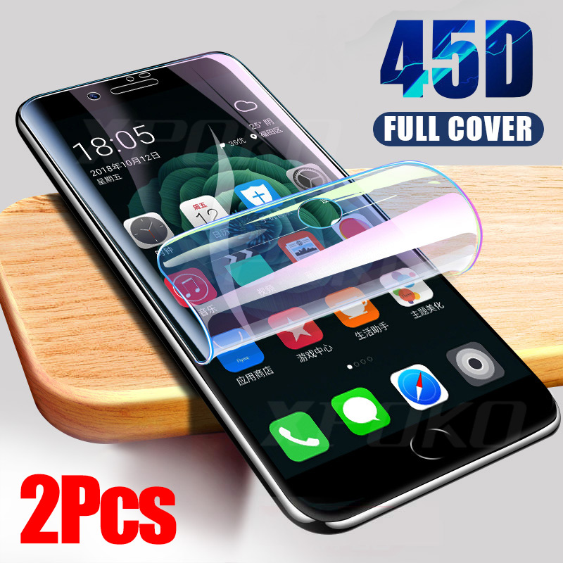 3Pcs 45D Screen Protector Hydrogel Film For IPhone 7 8 Plus 6 6s Plus Protective Film IPhone X XS XR XS Max 11 Pro Max Not Glass