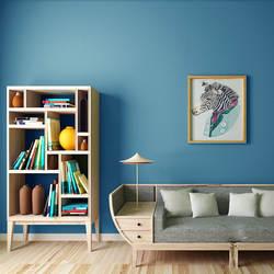 Свежий Средиземноморский стиль сплошной цвет универсальный Небесно-Голубой гостиной обои современный минималистичный нетканый материал