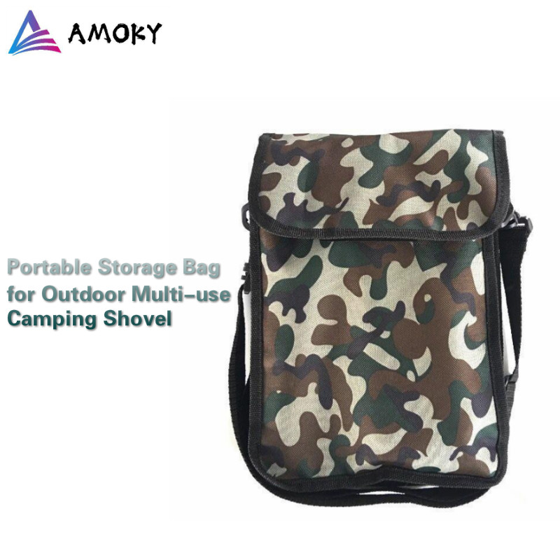 AMKOY Outdoor Shovel Bag 27CMx20CM Camping Military Tactical Bag for Camouflage Military Bag Camping Hiking Travel Storage Bag