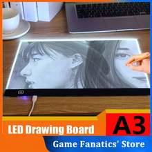 Mini a3 mini diodo emissor de luz desenho tracer tracer placa de cópia de três níveis de escurecimento digital tablet eye-protecting desenho almofada