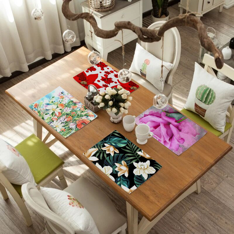 Table Mat for Dining Tableware Pad Plastic Table Mat Placemats Pads Bowl Coaster Kitchen Accessories Placemat for Dining Table in Mats Pads from Home Garden