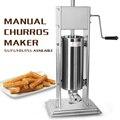 Ручной испанские Чуррос (печенье) тесто машина штранг-прессования 5/7/10/15L картофель фри палка Squeeze диспенсер 3 насадки для создания Снэк десер...