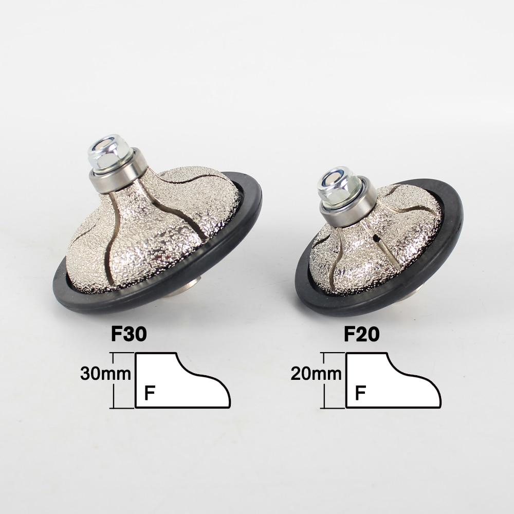 Vacuum Brazed Diamond Hand Profile Wheels F Ogee 20-30 mm Angle Grinder Sink Profiler Grinding Wheel For Granite Marble